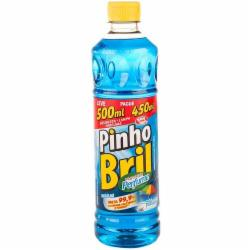 Desinfetante Pinho Bril Leve 500ml Pague 450ml Brisa do Mar