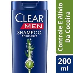 Shampoo Clear Men 200ml Controle Da Coceira