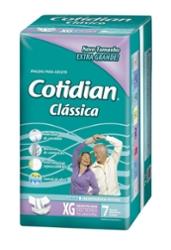 Fralda Adulto Cotidian Classica Xg com 7
