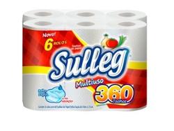 Papel Toalha Sulleg Branco com 6 rolos