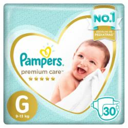 Fralda Pampers Premium Care G com 30