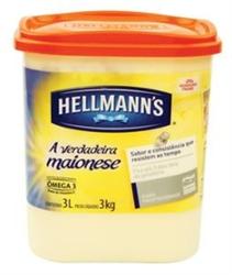 Maionese Hellmans 3kg Balde