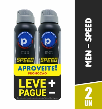 Kit Des Aero Public 150ml Men Speed com 2 Lv+Pg-