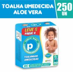 Toalhinhas Umedecidas Public Baby Aloe Vera Leve 5 Pague 4 com 250