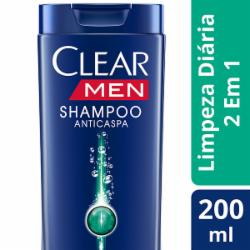 Shampoo Clear Men 200ml Limpeza Diaria 2x1