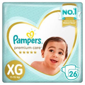 Fralda Pampers Premium Care XG com 26