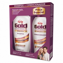 KIT SH+COND NIELY GOLD LISO PROLONGADO