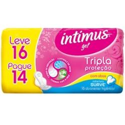 Absorvente Intimus Gel Tr Prot Lv16 Pg14 com Ab Suave