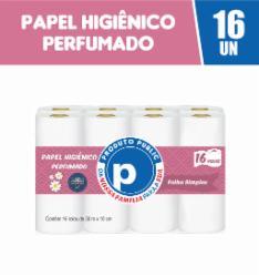 Papel Higiênico Public Folha Simples 16 rolos 30m Perfumado