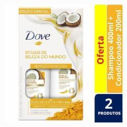 Kit Dove Shampoo 400ml Condicionador 200ml Ritual de Reparação