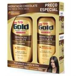 KIT NIELY GOLD SH 300ML COND 200ML CHOCOLATE