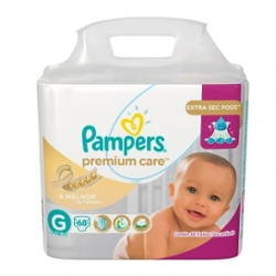 Fralda Pampers Premium Care G com 68