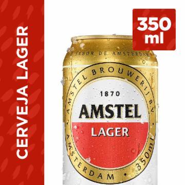 Cerveja Amstel 350ml Lata