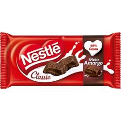 Chocolate Nestle Tablete 125g Meio Amargo
