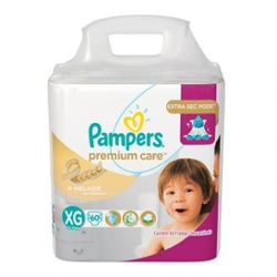 Fralda Pampers Premium Care XG com 60