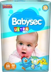 Fralda Babysec Ultrasec M com 88