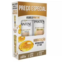 Kit Pantene Shampoo 400ml Condicionador 175ml Hidratação