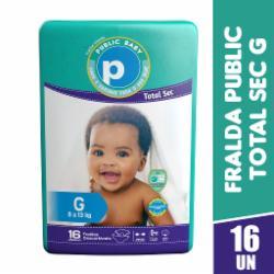Fralda Public Baby Total Sec Jumbinho G com 16