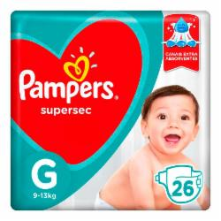Fralda Pampers Supersec G com 26