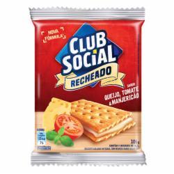 Biscoito Club Social  Recheado 106G Queijo/Tomate/Manjericão
