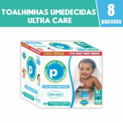 Toalhinhas Umedecidas Public Baby Ultra Care com 400 Caixa Mensal