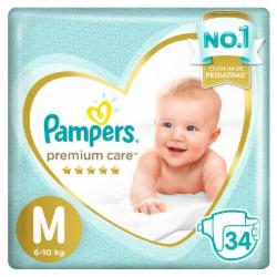 Fralda Pampers Premium Care M com 34