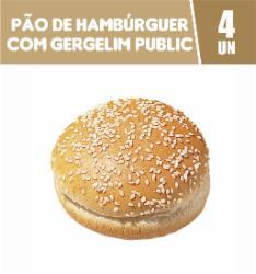 PAO HAMBURGUER C/GERGELIM 200G PUBLIC