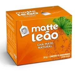 Cha Matte Leao Natural 24g com  15 Saq Envelopados