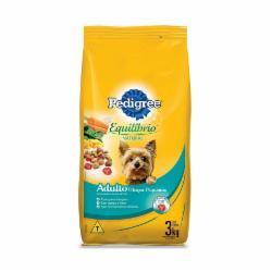 Alimento para Cães Pedigree 3kg Eq Nat Racas Pequenas