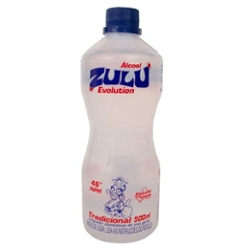 ALCOOL ZULU 46º 500ML EVOLUTION