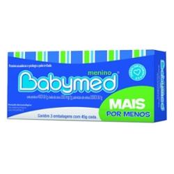Kit com 3 Pomadas para Assaduras Babymed 45g Meninos