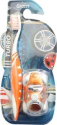 Escova Dental Green Infantil Turbo com Carrinho