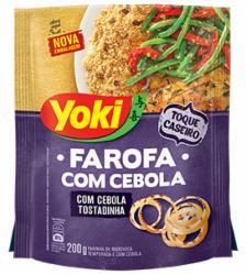Farofa Pronta Yoki Mandioca 200g com Pedaços de Cebola