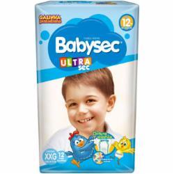 Fralda Babysec Ultrasec XXG com 12