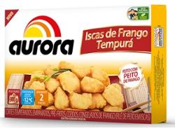 Iscas Frango Empanadas Aurora 300g Tempura