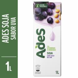 Bebida de Soja Ades 1L Uva