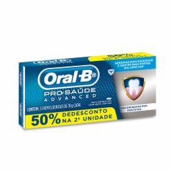 Creme Dental Oral B 70g Pro Saúde Advanced 50% de Desconto na 2ª Unidade
