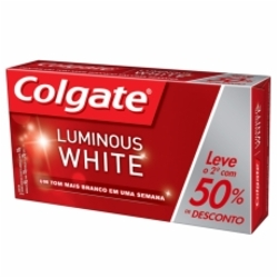 Creme Dental Colgate Luminous White 70g 2º 50%Desc