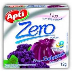 Gelatina Apti Zero 12g Uva