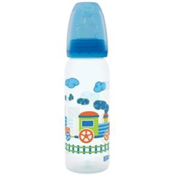Mamadeira Lillo 240ml Azul Divertida Orto