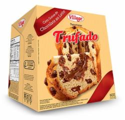 Panettone Village 500g Trufado Gotas Recheado Chocolate