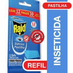 Inseticida Elétrico Pastilha Raid Refil Leve 12 Pague 10