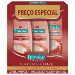 Kit 2sh+1cond Palmolive 350ml Oleo Surpreendente