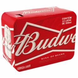 Cerveja Budweiser 350ml Lata - Caixa com 12 unidades