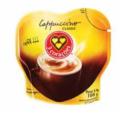 Cappuccino 3 Coracoes Classic 100g Refil