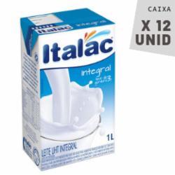 Leite Italac 1L Integral - Caixa com 12 unidades