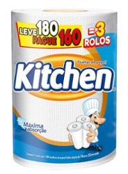Papel Toalha Kitchen Leve 180 Pague 160 Folhas