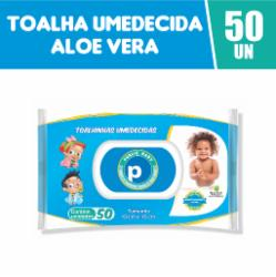 Toalhinhas Umedecidas Public Baby Aloe Vera com 50