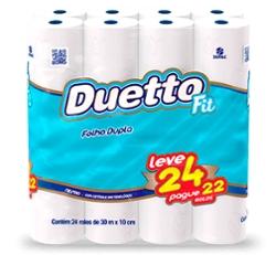 Papel Higiênico Duetto F Dup 30m Lv24 Pg22
