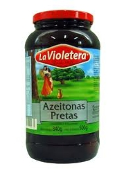 Azeitona La Violetera Preta 500g com C